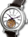 KULTUhR Fab Classic Tourbillon with Black Roman Numerals on White Enamel-Style Dial